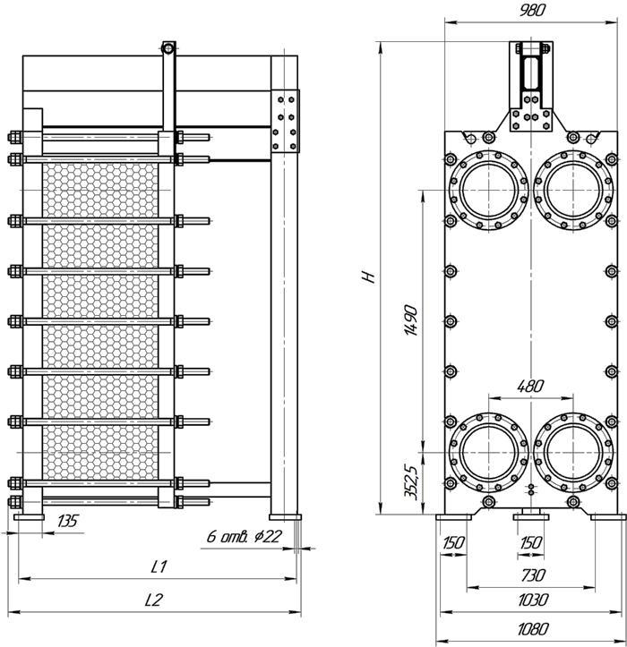 Пластинчатый теплообменник Машимпэкс (GEA) LWC 250L Уфа производители промышленных теплообменников