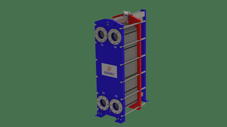 Теплообменник пластинчатый Phoenix APR 62 VITON на 55 пластин 0,5 мм