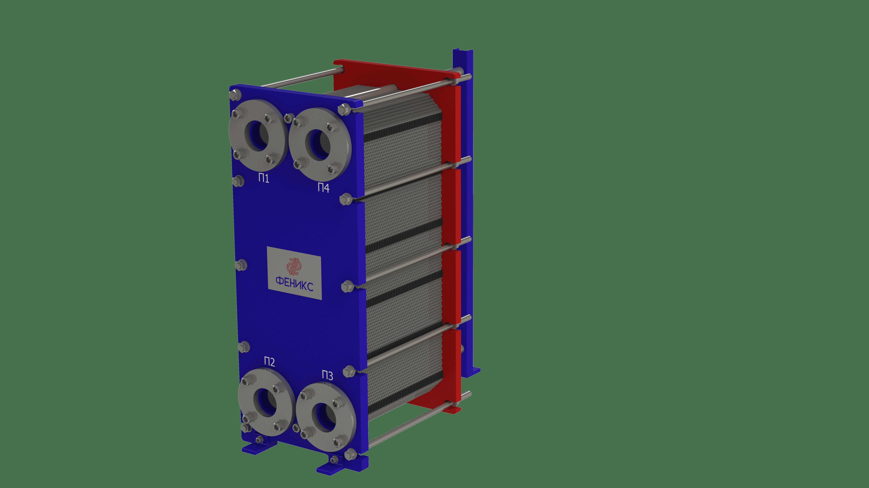 Теплообменник пластинчатый Phoenix APR 19 VITON на 45 пластин 0,5 мм