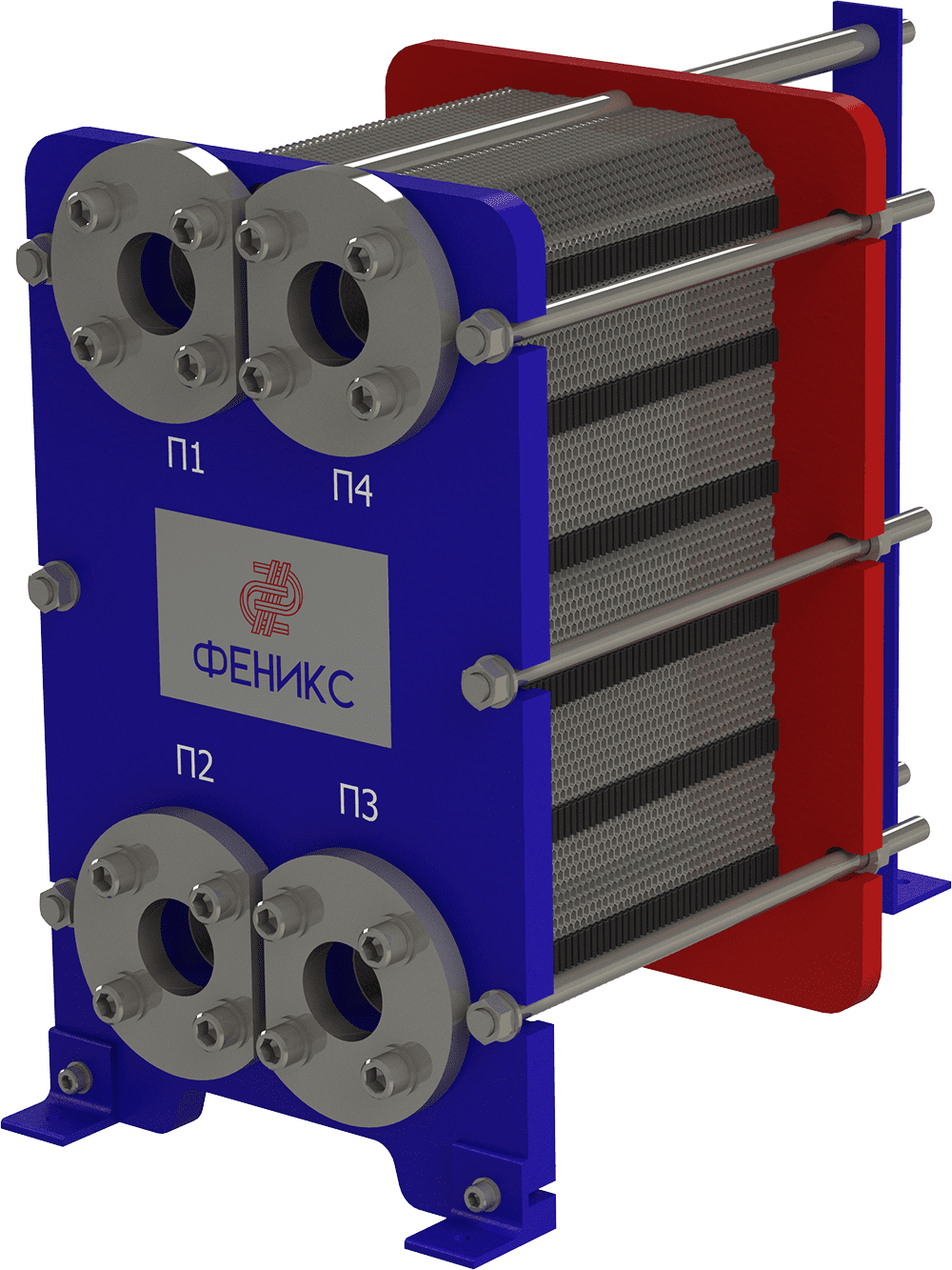 Теплообменник пластинчатый Phoenix APR 7 EPDM на 5 пластин 0,5 мм
