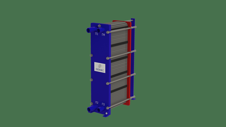 Теплообменник пластинчатый Phoenix APR 8 EPDM на 10 пластин 0,4 мм