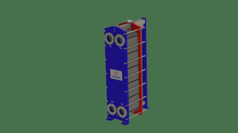 Теплообменник пластинчатый Phoenix APR 86 EPDM на 75 пластин 0,5 мм